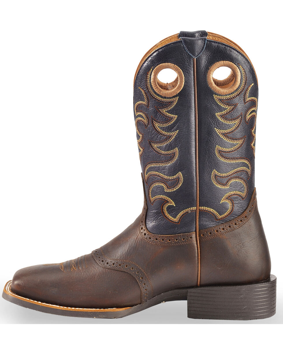 Cody James Men's Gibson Saddle Vamp Western Boots - Square Toe, Brown, hi-res