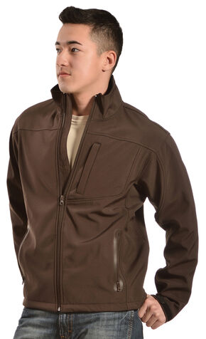 Red Ranch Men's Brown Softshell Western Jacket, Chocolate, hi-res