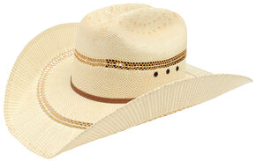 Ariat Double S Bangora Straw Hat, Tan, hi-res