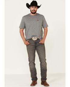 Wrangler Retro Men's Grey Woodburn Stretch Slim Straight Jeans , Grey, hi-res