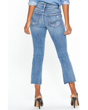 Silver Women's Mazy High Rise Boot Crop Jeans, Indigo, hi-res