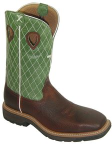Twisted X Lite Pull-On Work Boots - Steel Toe, Cognac, hi-res