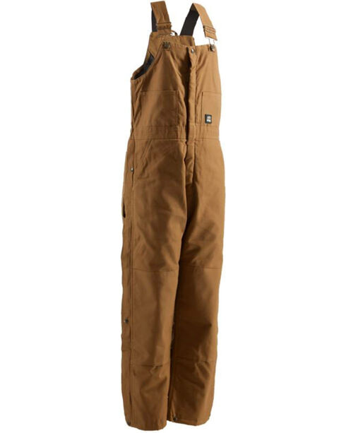 Berne Men's Water-Repellent Deluxe Overalls - Tall, Brown, hi-res