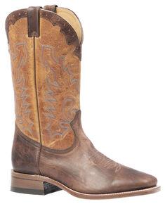 Boulet Delantero Piel Damiana Moka Cowboy Boots - Square Toe, Mocha, hi-res