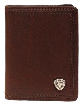 Ariat Logo Concho Bi-fold Wallet, Copper, hi-res