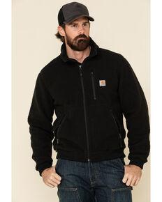 Carhartt Men's Black Fleece Work Jacket , Black, hi-res