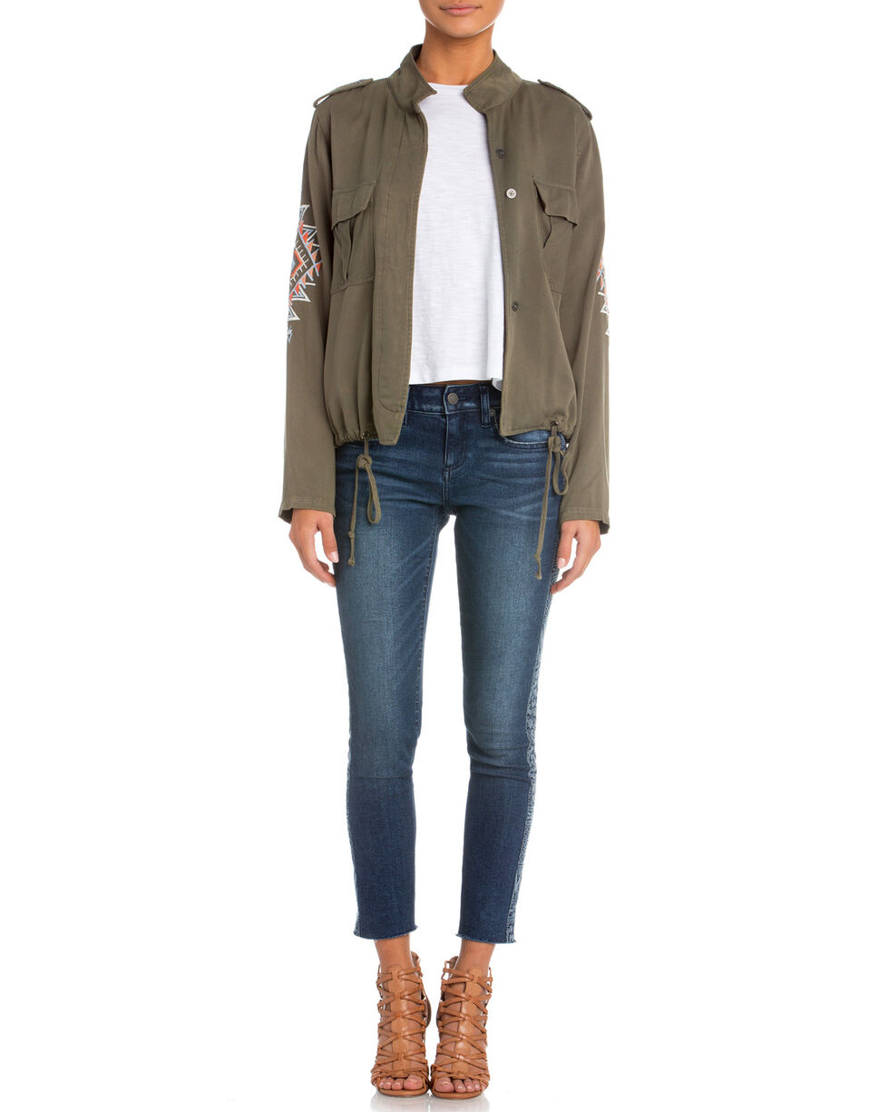Miss Me Women's Take Over Drawstring Jacket, Olive, hi-res