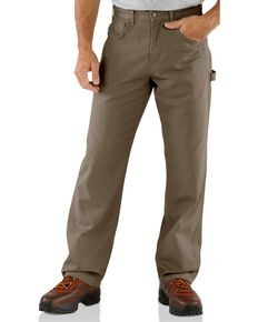 Carhartt Loose Fit Canvas Carpenter Five Pocket Work Pants, Mushroom, hi-res