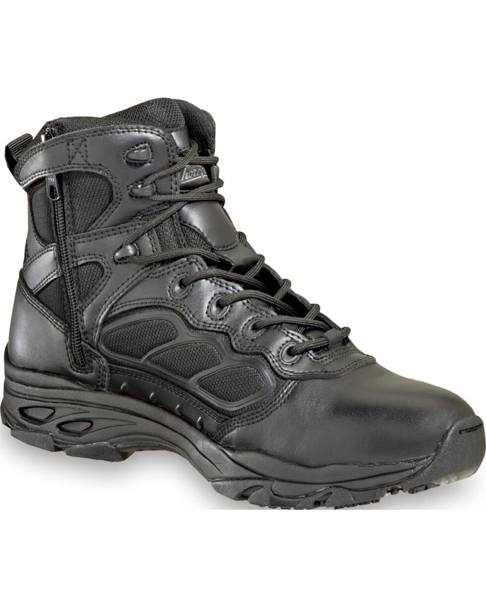 "Thorogood Men's 6"" ASR Ultra Light Side Zip Tactical Boots , Black, hi-res"