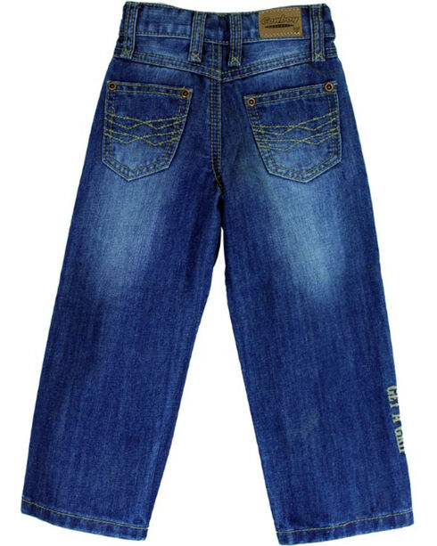 Cowboy Hardware Toddler Boys' Double Barbed Wire Medium Wash Jeans (5-6), Indigo, hi-res