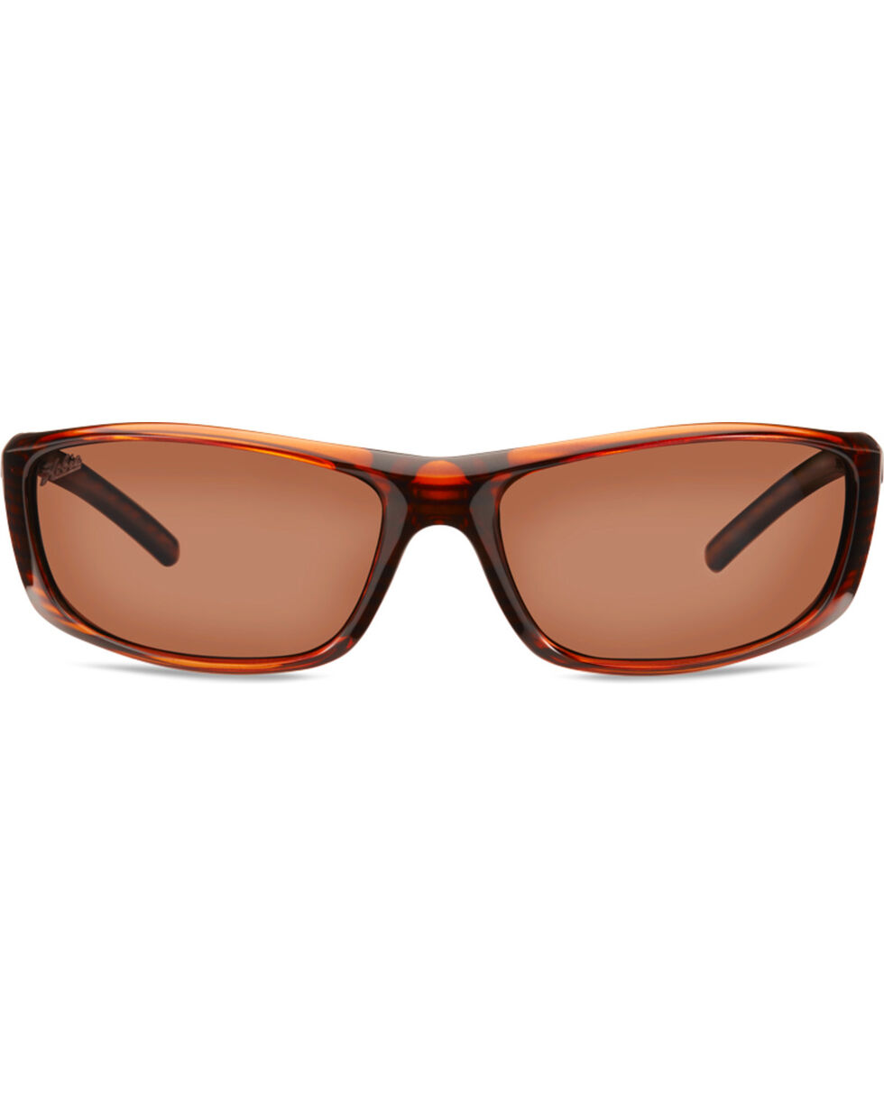 Hobie Men's Shiny Brown Wood Grain Polarized Cabo Sunglasses , Brown, hi-res