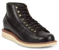 Chippewa Men's 1958 Black General Utility Boots - Round Toe, Black, hi-res