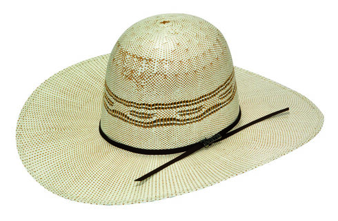 Twister Open Range Bangora Straw Open Crown Hat, Tan, hi-res