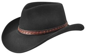Wind River by Bailey Firehole Black Western Hat, Black, hi-res