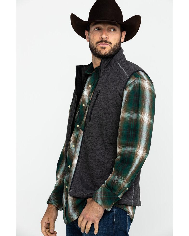 Cowboy Hardware Men's Simple CH Speckle Fleece Vest , Charcoal, hi-res