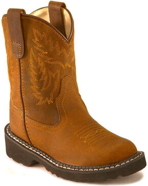 Old West Children's Crazyhorse Tubbies Boots, Distressed, hi-res