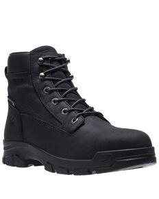 Wolverine Men's Chainhand Waterproof Work Boots - Soft Toe, Black, hi-res