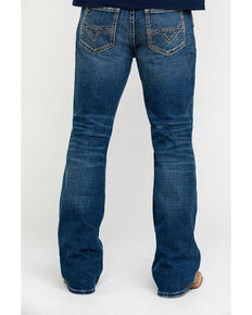 Cody James Core Men's Dungaree Medium Wash Stretch Relaxed Bootcut Jeans , Blue, hi-res