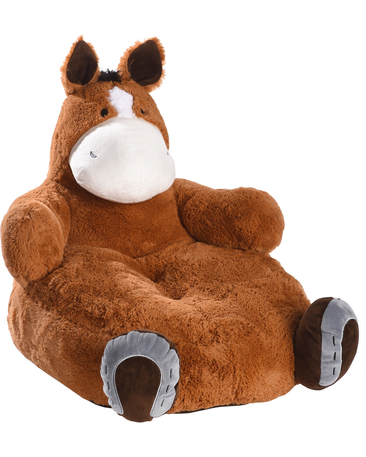 Lil BB Lucky Fiona Horse Plush Chair, Brown, Hi Res