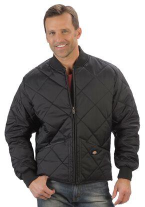 Dickies Diamond Quilted Nylon Work Jacket - Big & Tall, Black, hi-res