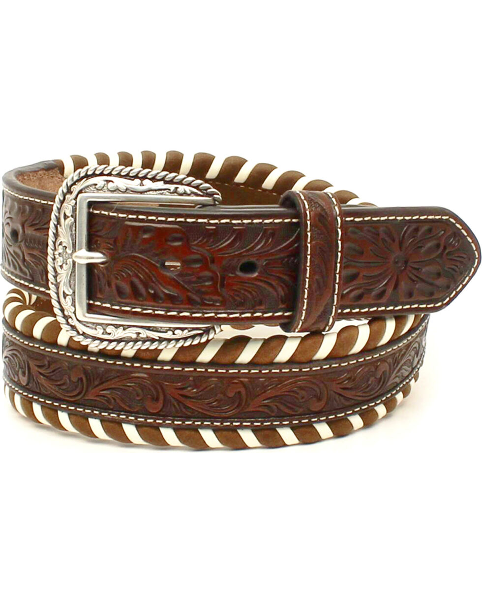 Ariat Men's Striped Pattern Belt , Tan, hi-res