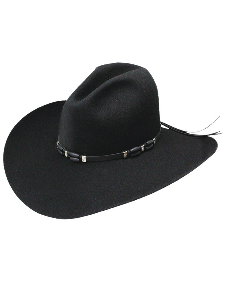 Stetson Men's 4X Broken Bow Buffalo Felt Cowboy Hat, Black, hi-res