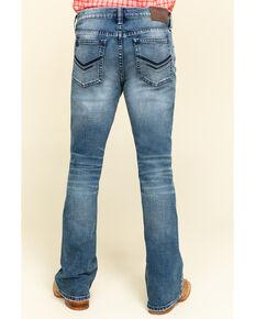 Cody James Core Men's Longhorn Stretch Medium Wash Slim Bootcut Jeans , Blue, hi-res