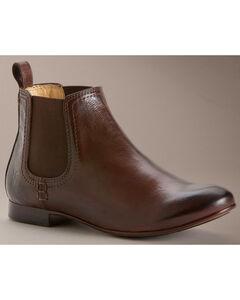 Frye Women's Jillian Chelsea Shoes - Round Toe, Dark Brown, hi-res