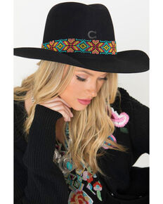 Resistol Women's Gold Digger Concho Western Hat, Black, hi-res
