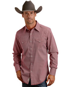 Stetson Men's Red Oval Print Western Shirt , Red, hi-res