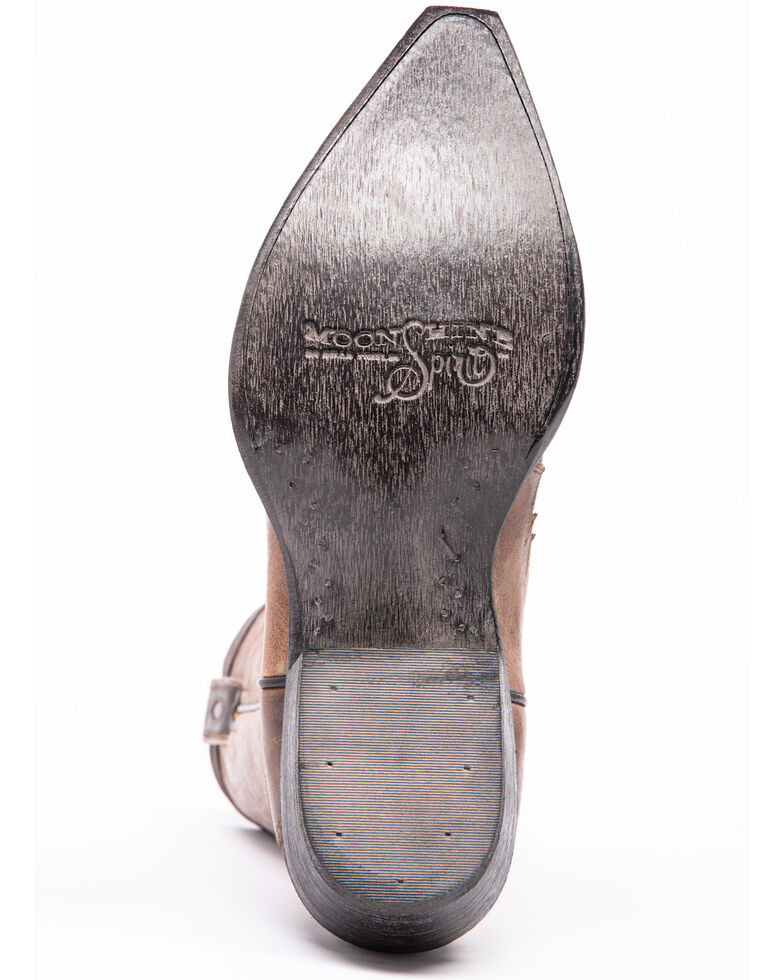 Moonshine Spirit Men's Dublin Taupe Western Boots - Snip Toe, Taupe, hi-res