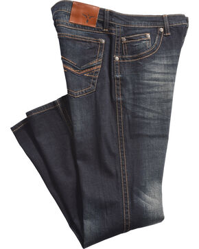 Wrangler 20X Men's No. 42 River Stonewash Jeans - Boot Cut, Blue, hi-res