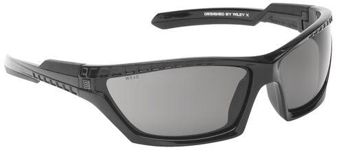 5.11 Tactical CAVU Full Frame Sunglasses (Plain Lens), Black, hi-res
