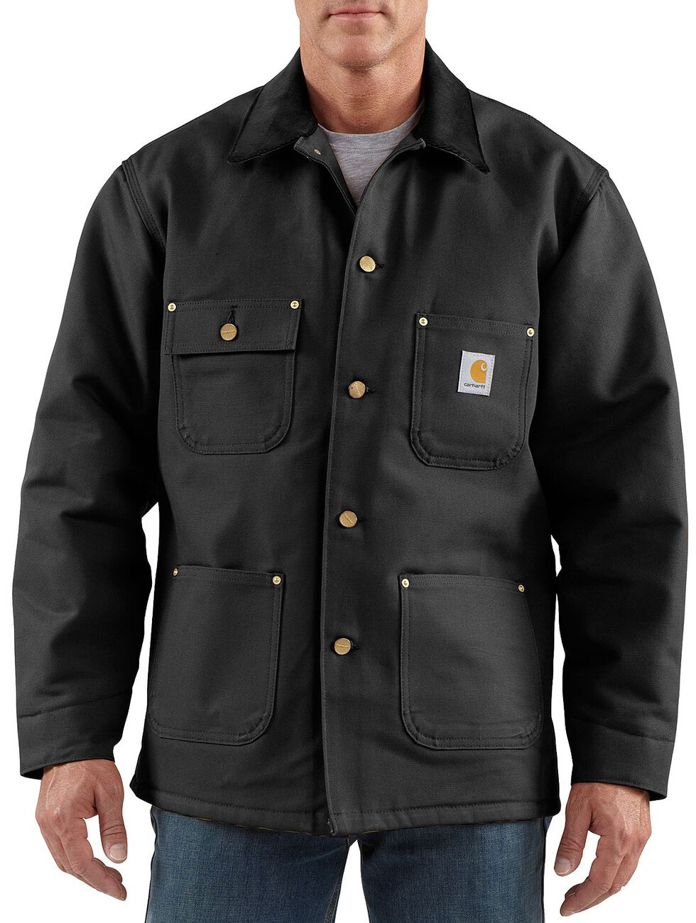 Carhartt Duck Chore Coat, Black, hi-res