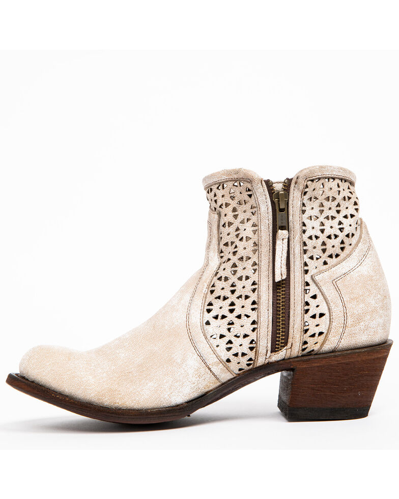Shyanne Women's Blanco Cafe Western Booties - Round Toe, Ivory, hi-res