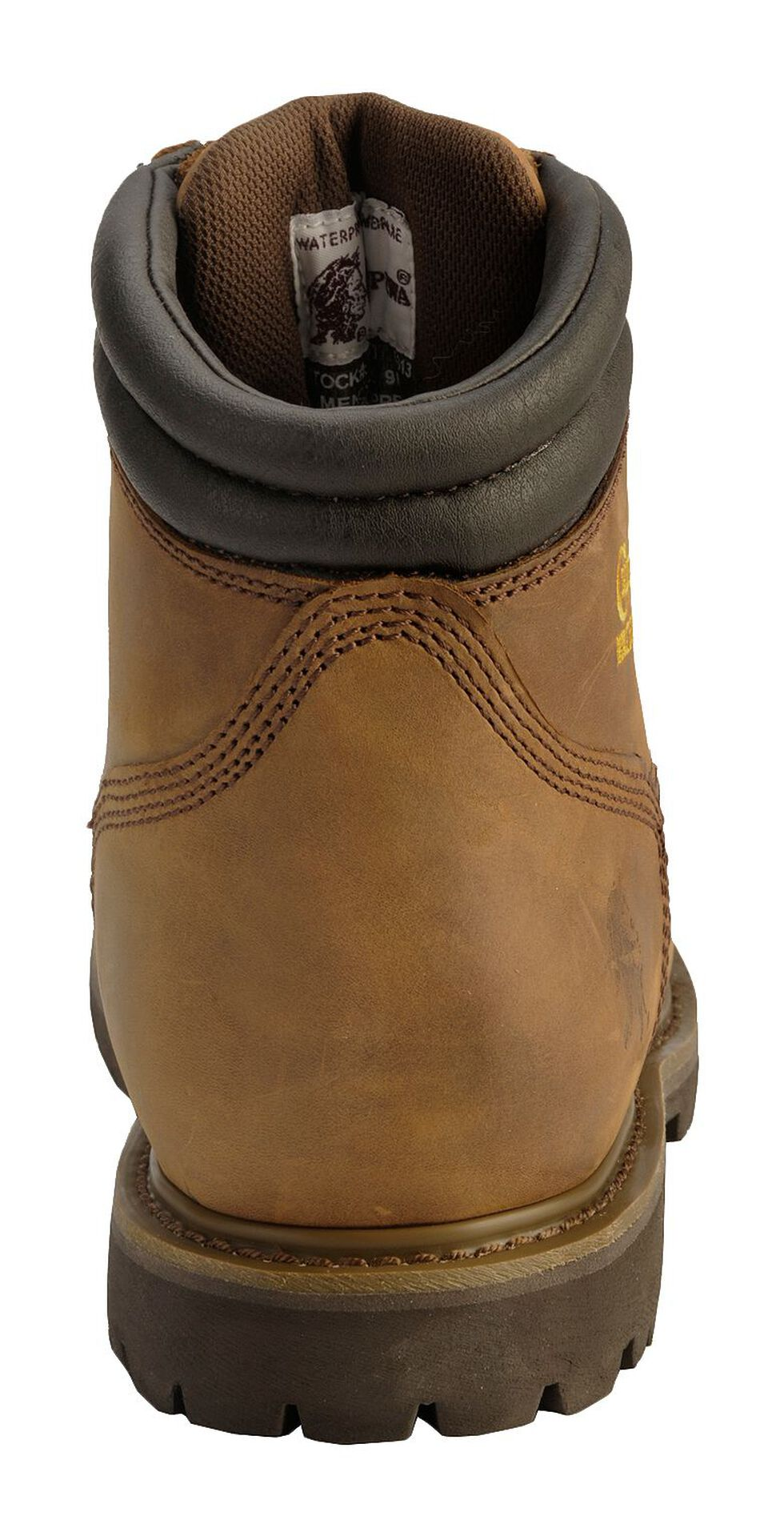 """Chippewa IQ Insulated & Waterproof 6"""" Lace-Up Work Boots - Round Toe, Bark, hi-res"""