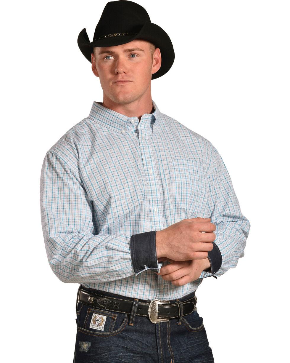 Cody James Men's Hawk Plaid Long Sleeve Button Down Shirt, , hi-res