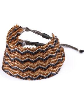 Kutula Kiss Women's Gold Large Ziggy Bracelet , Gold, hi-res