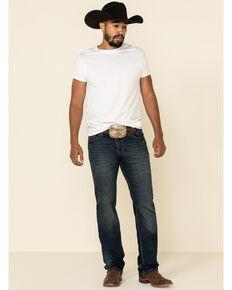 Rock & Roll Denim Men's Vintage 46 Dark Revolver Stretch Slim Straight Jeans , Indigo, hi-res