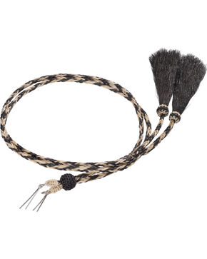 Cody James Black and White Braided Stampede String, Black, hi-res