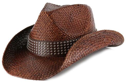 Shyanne Women's Hector Straw Cowgirl Hat, Dark Brown, hi-res
