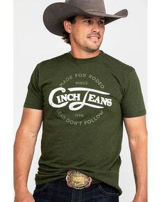 Cinch Men's Olive Circular Graphic T-Shirt , Olive, hi-res