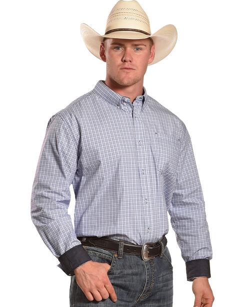 Cody James Men's Forth Worth Check Plaid Shirt, Blue, hi-res