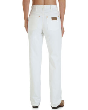 Wrangler Women's White Cowboy Cut Slim Fit Jeans - Tapered Leg, White, hi-res