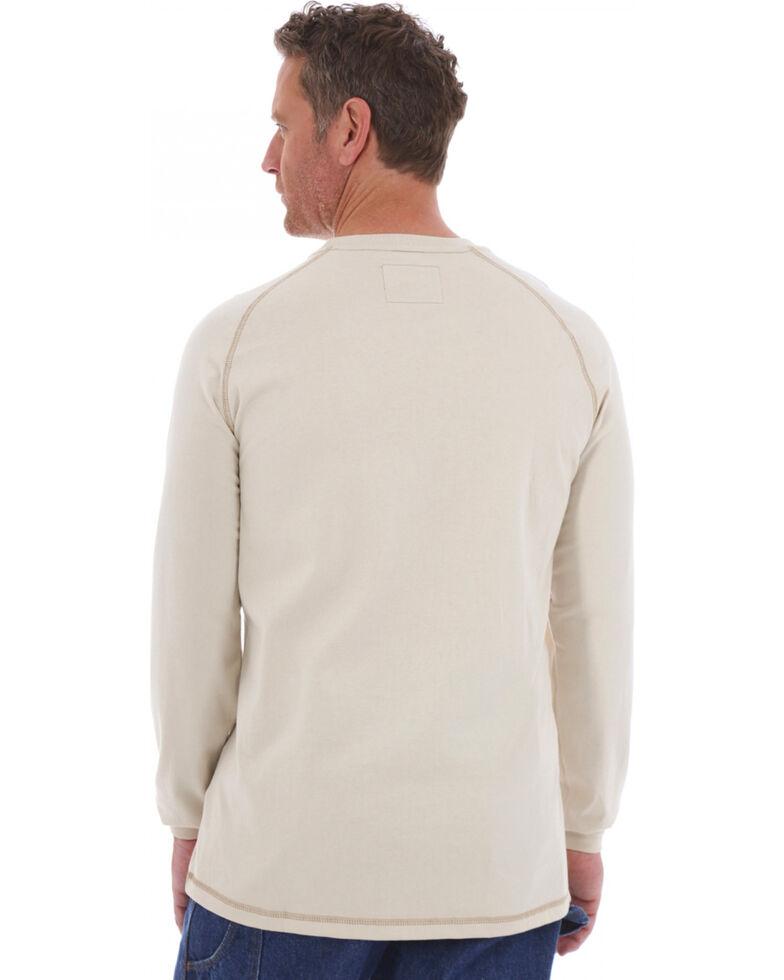 Wrangler 20X Flame Resistant Long Sleeve Crew Pullover, Khaki, hi-res