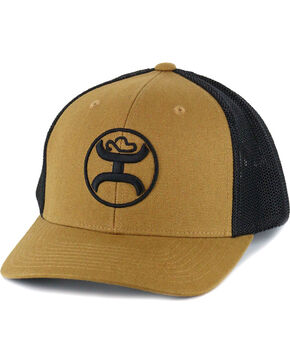 HOOey Men's Embroidered Logo Snapback, Brown, hi-res