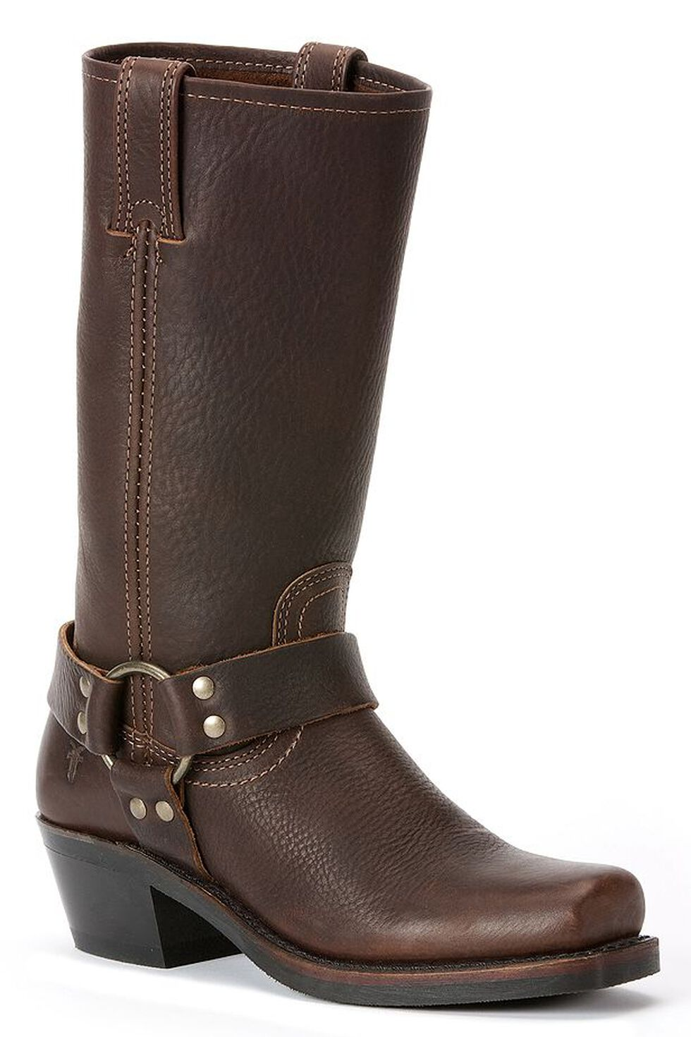 Frye  Women's Harness Boots - Square Toe, Brown, hi-res