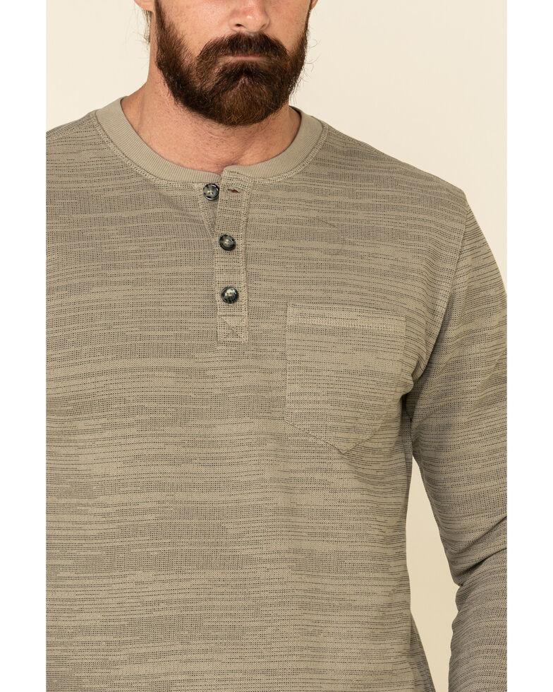 Moonshine Spirit Men's Tan Woodbourne Henley Long Sleeve Shirt , Tan, hi-res