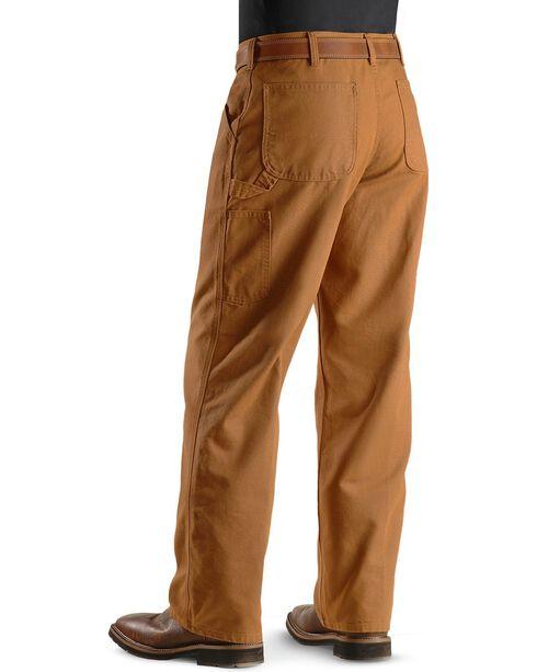 Carhartt Weathered Duck Dungaree Fit Khaki Work Pants, Brown, hi-res