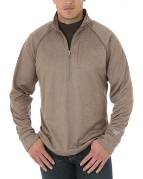 Wrangler Men's Cool Vantage Half Zip Pullover , Brown, hi-res